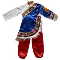 少数民族男藏族服饰服装舞蹈演出服舞台表演服西藏男士藏袍套装服装190/104A 180斤左右