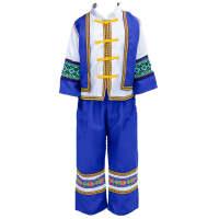儿童拉祜族舞蹈服少数民族男女幼儿瑶族服装学生彝族葫芦丝演出服